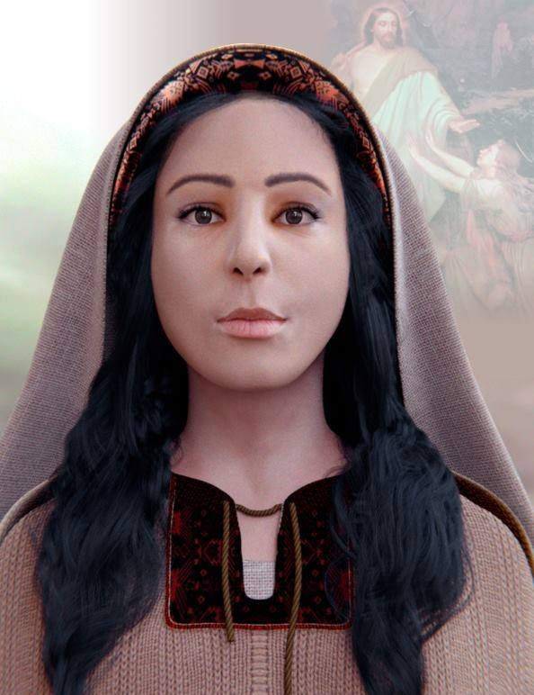 O trabalho de reconstituição do rosto da santa teve duração de dois meses e participação de três brasileiros. (FOTO: Reprodução)