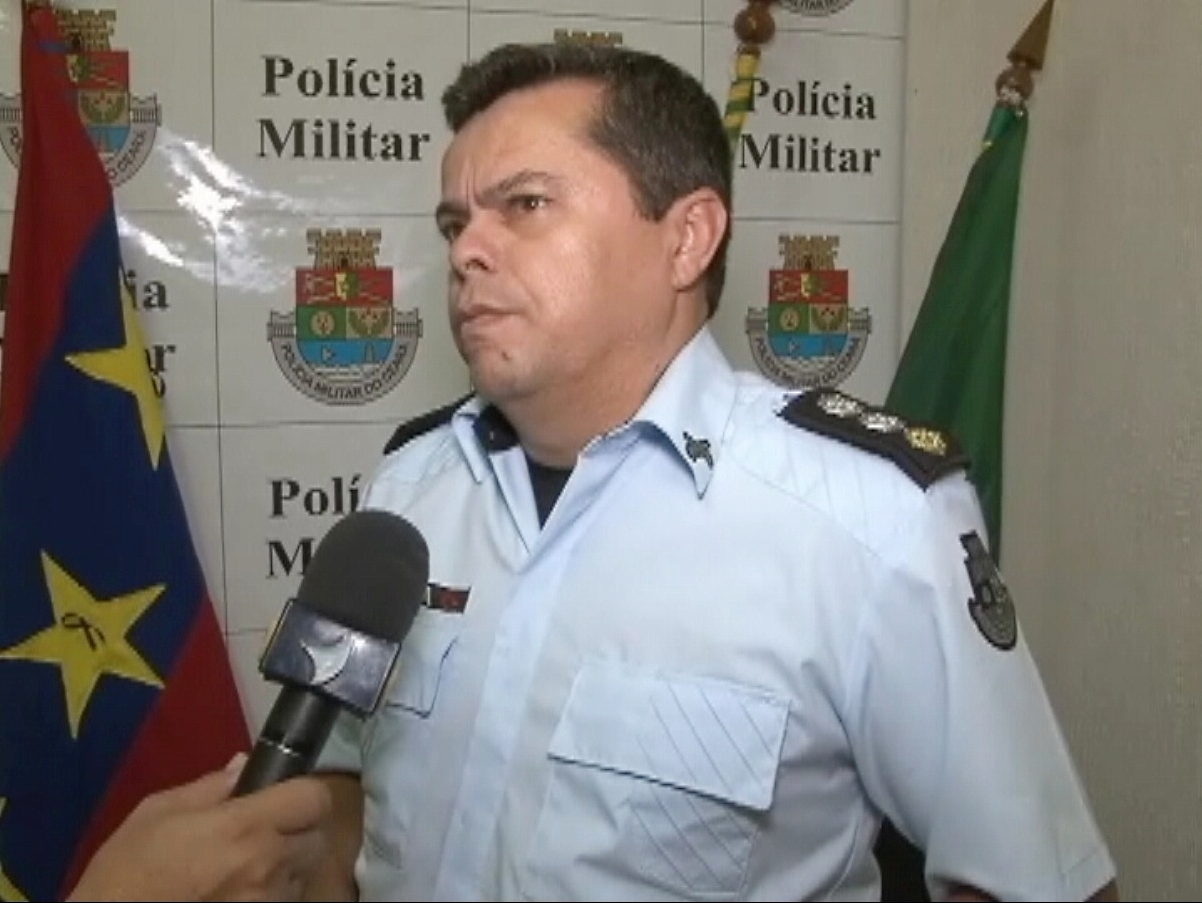 Major da Polícia Militar informou que caso teve repercussão negativa no município (FOTO: Reprodução/TV Jangadeiro)