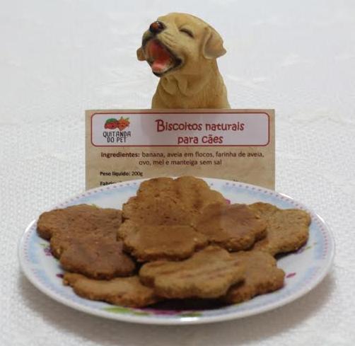Biscoitos de aveia e mel também são comercializados na loja específica para pets (FOTO: Arquivo pessoal)