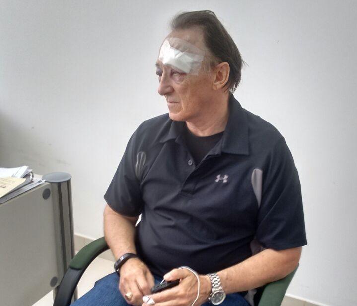 Durante o assalto, houve luta corporal e o turista sofreu vários ferimentos no rosto (FOTO: Raniere Sales/TV Jangadeiro)