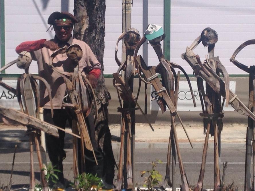 Foram as lembranças da juventude as responsáveis pela criatividade do escultor (FOTO: Roberta Tavares/Tribuna do Ceará)