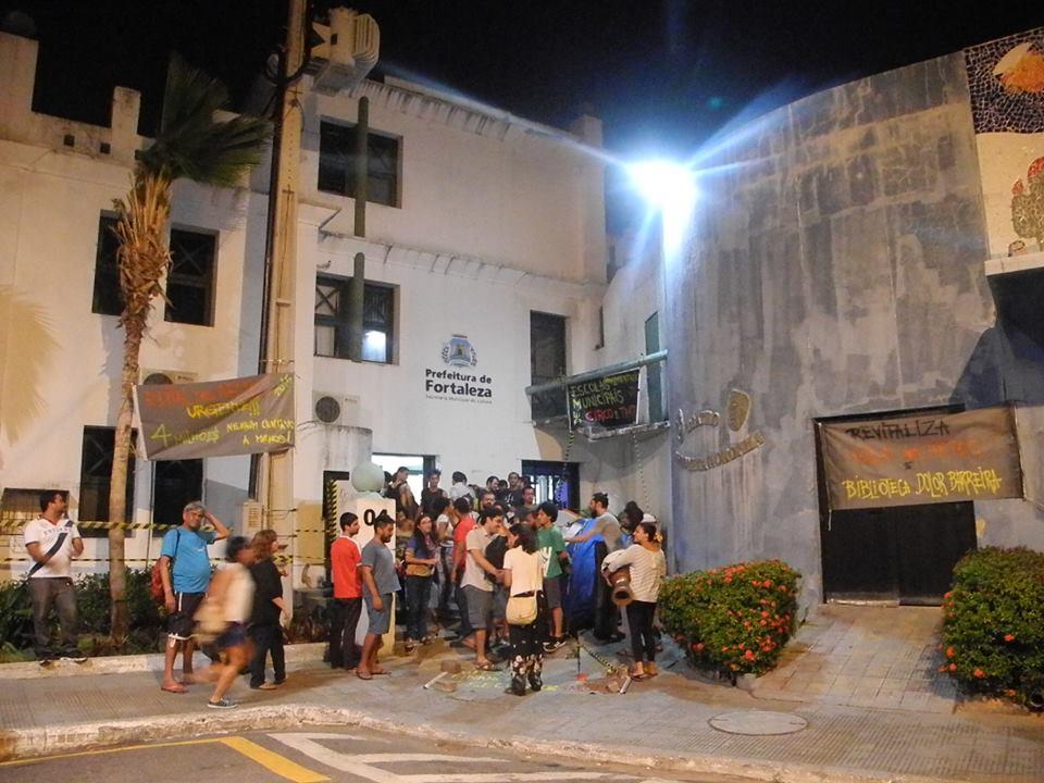 Artistas cearenses ocuparam o prédio da Secultfor (FOTO: Divulgação)