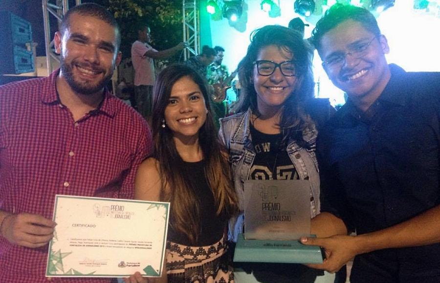 Equipe do Tribuna do Ceará vencedora da categoria webjornalismo (FOTO: Monique Oliveira)