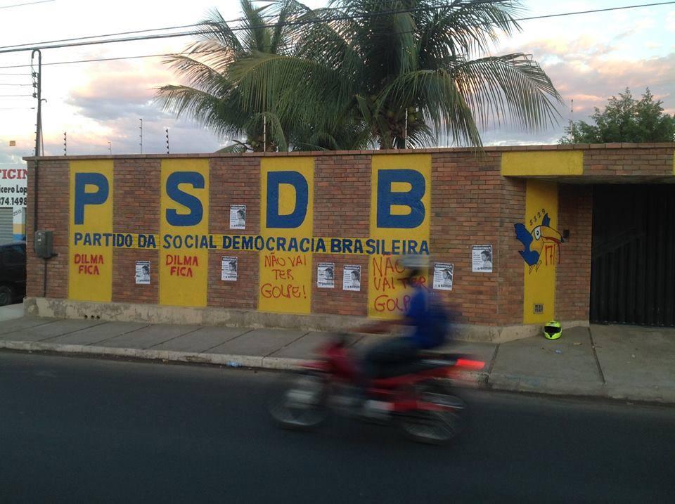 Ato praticado na sede de Juazeiro do Norte (FOTO: Reprodução Facebook)