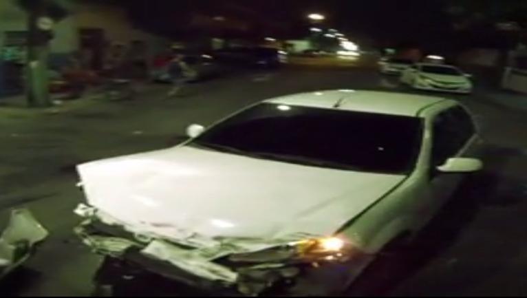 Moradores reclamaram de frequência de acidentes na região (FOTO: Reprodução TV Jangadeiro)