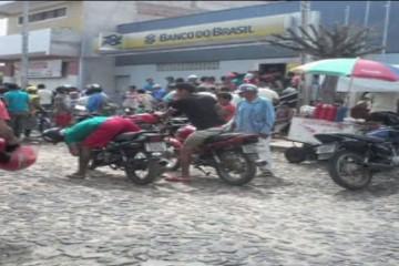Primeiro assalto a banco no Ceará acontece em Novo Oriente (FOTO: Reprodução TV Jangadeiro)