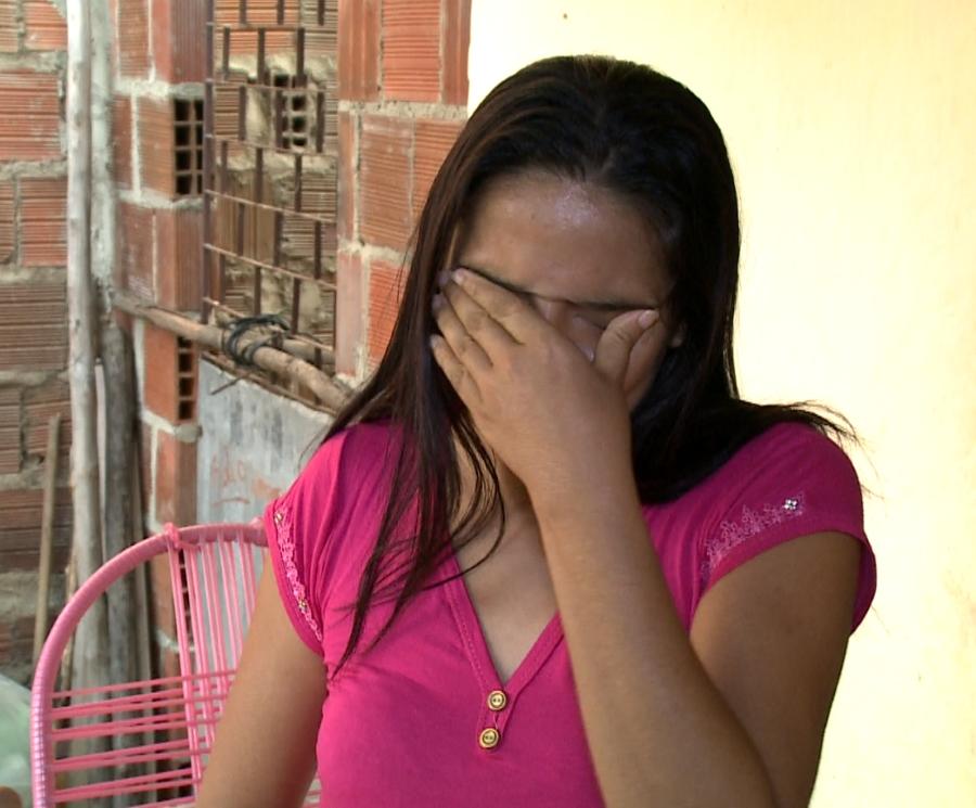 Antônia Laires diz que recebeu notícia da morte de irmão 10 minutos depois que ele saiu de casa (FOTO: Reprodução/TV Jangadeiro)