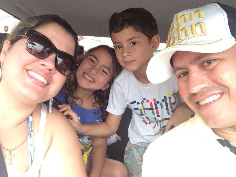Família pernambucana estava visitando o Ceará pela primeira vez. (FOTO: Arquivo pessoal)