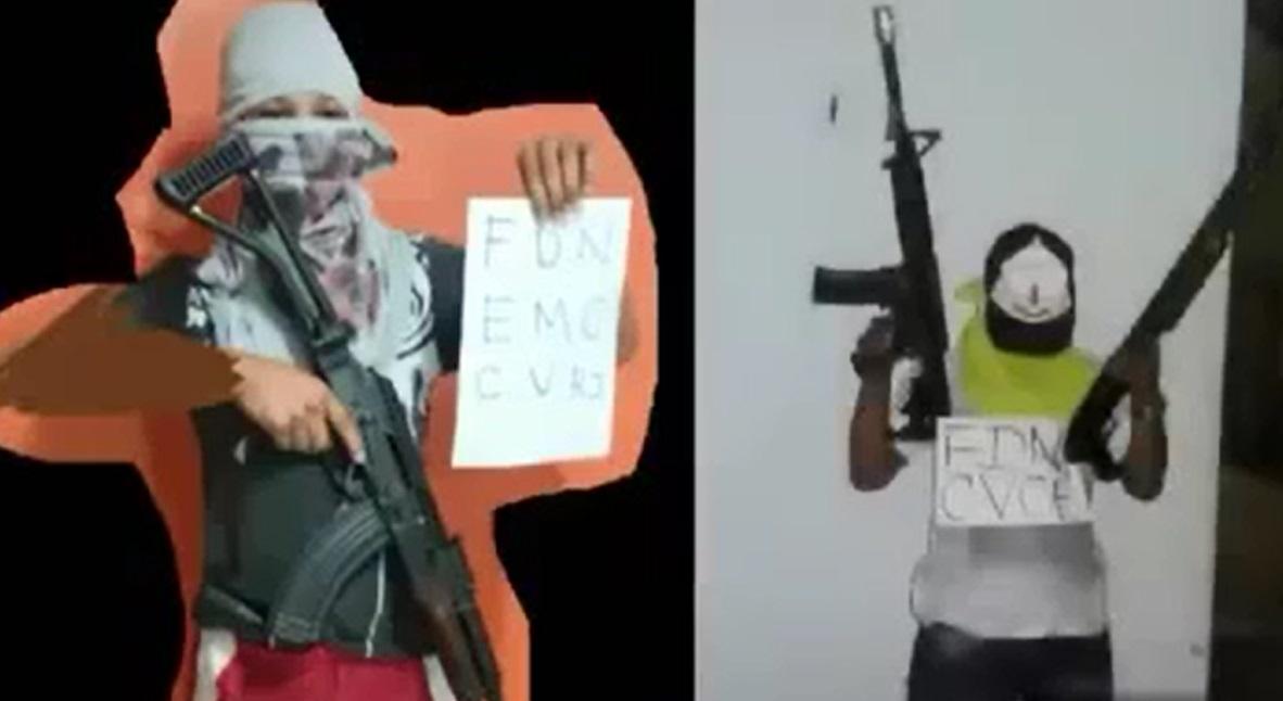 Nas imagens, criminosos aparecem com armas de uso restrito (FOTO: Reprodução Vídeo)
