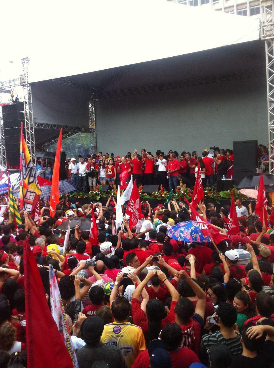 A concentração iniciou-se às 10h. (FOTO: Tribuna do Ceará/ Fernanda Moura)