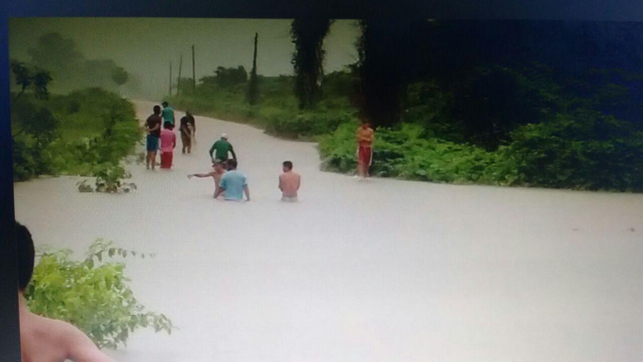 Segundo a Funceme, chuvas atingiram pelo menos sete municípios do interior do estado do Ceará (FOTO: Whatsapp Tribuna do Ceará)