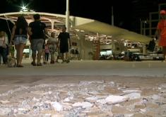 Buraqueira no calçadão da Beira Mar (FOTO: Reprodução TV Jangadeiro)