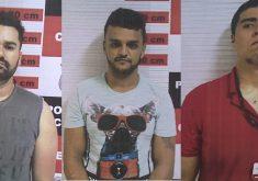 Antonio Leorne, Carlos Lopes e Amer Muhammad Noronha  foram presos por tráfico de drogas (FOTO: Divulgação)