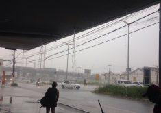 As chuvas aconteceram na Capital e outros municípios do Estado (FOTO: Whatsapp/Tribuna do Ceará)