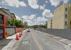 Rua está cheia de cones (FOTO: Google Maps)