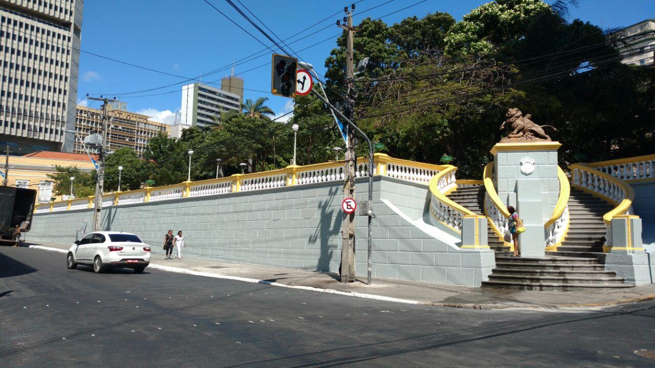 Reforma da Praça dos Leões é festejada por fortalezenses
