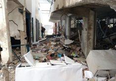 Agência ficou destruída (FOTO: Dorian Girão/TV Jangadeiro)
