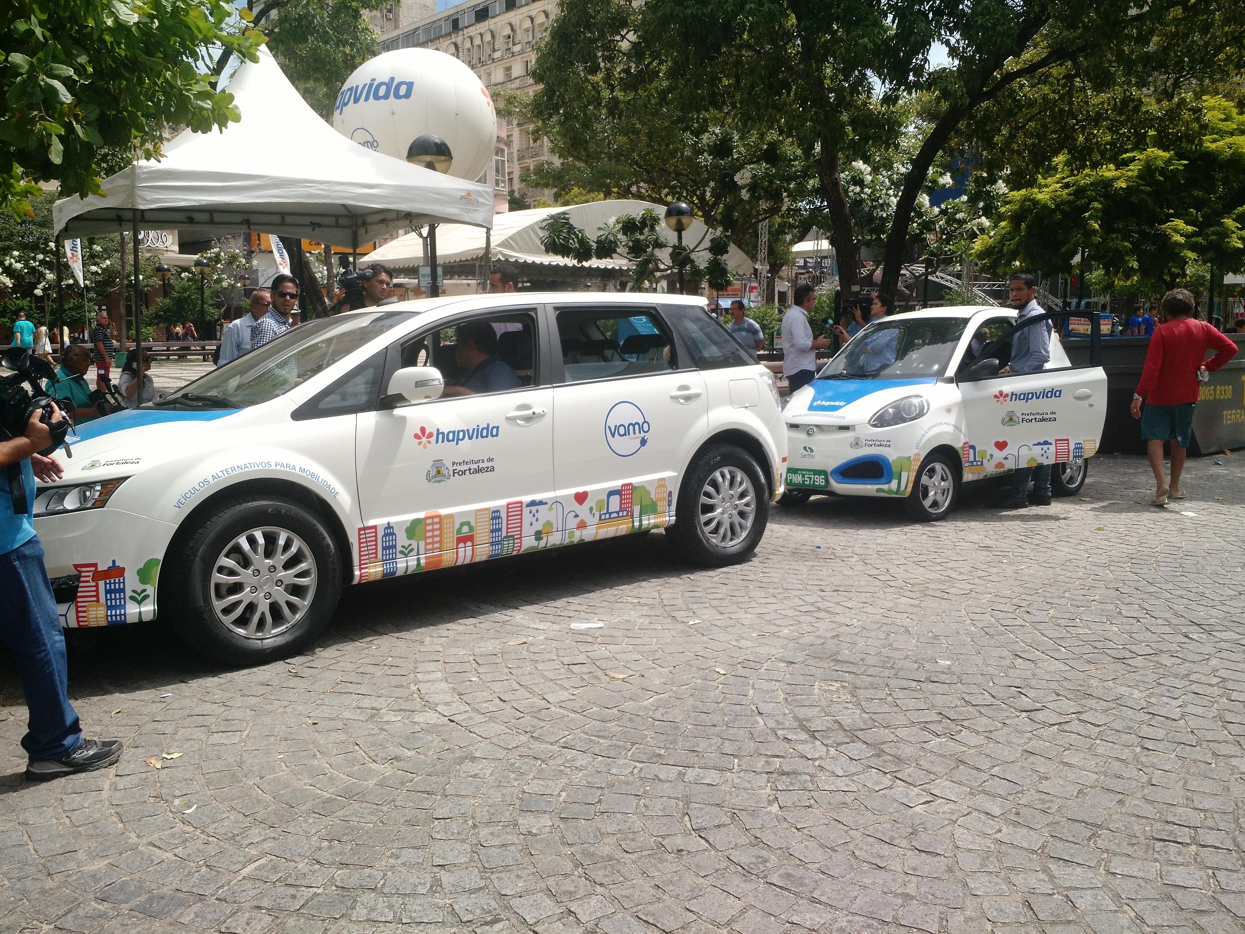Test drive dos carros compartilhados