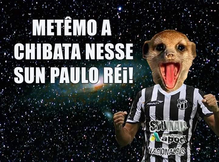 O Suricate também 'apareceu' depois da vitória alvinegra na capital paulista (Foto: reprodução/Facebook)