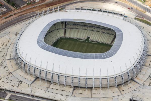 A Arena Castelão tem capacidade para 63.903 pessoas (Foto: divulgação)