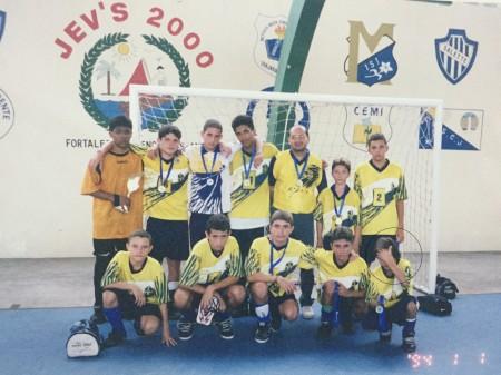 Wesley Safadão foi vice no futsal com o Medalha Milagrosa (Foto: arquivo pessoal)