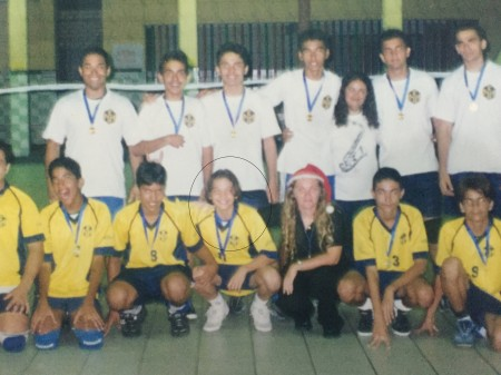Wesley Safadão era um dos destaques da equipe de vôlei (Foto: arquivo pessoal)
