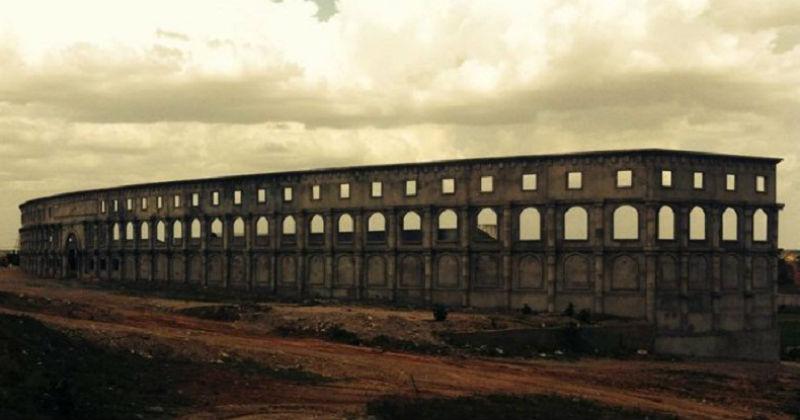 A obra do Coliseu demorou 6 anos para ficar pronta (Foto: Rodrigo Lira/Alto Santo É Notícia.com/Divulgação)
