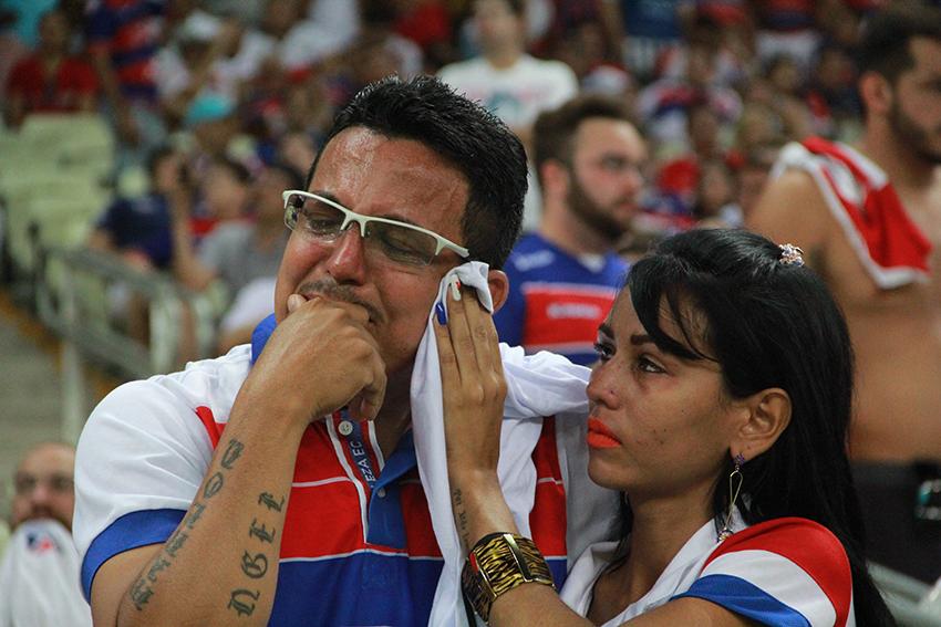 Mesmo com o apoio da torcida, o Fortaleza não conseguiu superar o Xavante e ficou no empate sem gols. (FOTO: Tribuna do Ceará/ Fernanda Moura)