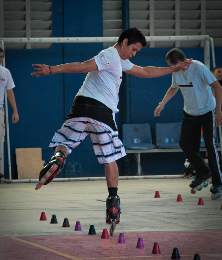 Atleta Júnior Alves, campeão cearense de patinação (FOTO: Eder Bicudo)