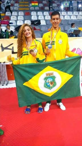 Os cearenses conseguiram duas medalhas para o Brasil no Sul-Americano (FOTO: Divulgação)
