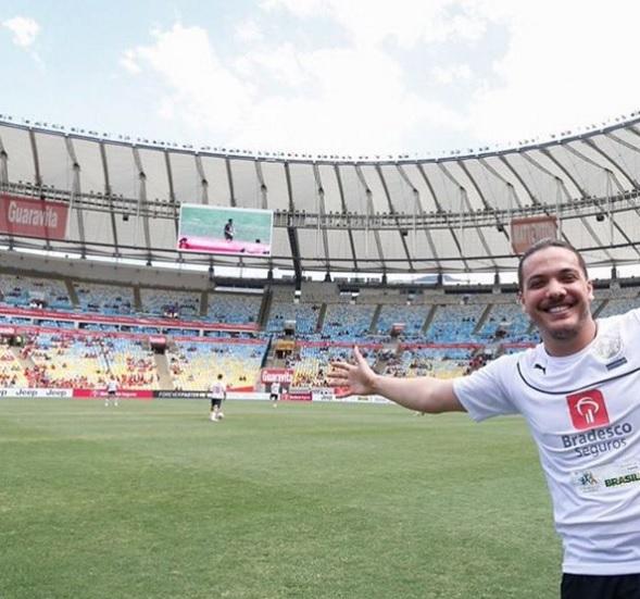 Safadão marcou mais um belo gol, dessa vez no Maracanã (FOTO: Reprodução/Instagram)