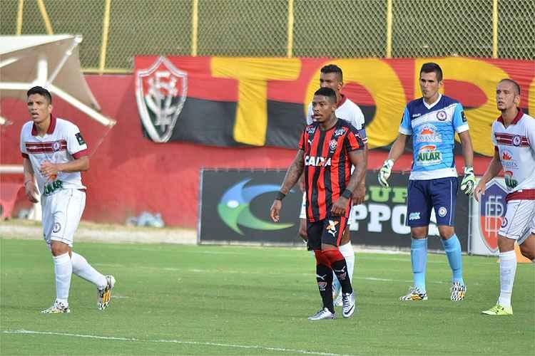 Marinho já fez dois gols com a camisa do Leão da Barra Foto: Francisco Galvão / Divulgação / E.C. Vitória)
