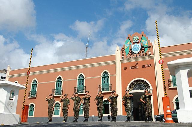 Sediada em Fortaleza, a 10ª Região Militar abrange, além do Ceará, o Piauí e o Maranhão (FOTO: Reprodução)