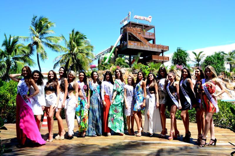 Beach Park recebe as 17 candidatas a Miss Ceará 2015