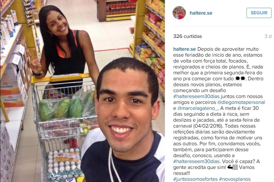 Haltere-se: casal cearense cria Instagram fit