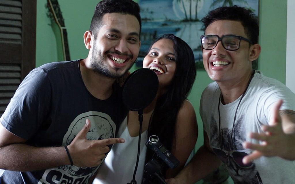 Glovyson Pabollo, Gleiciane Soares e Thomas Halyson são as vozes das redublagens (FOTO: Arquivo Pessoal)