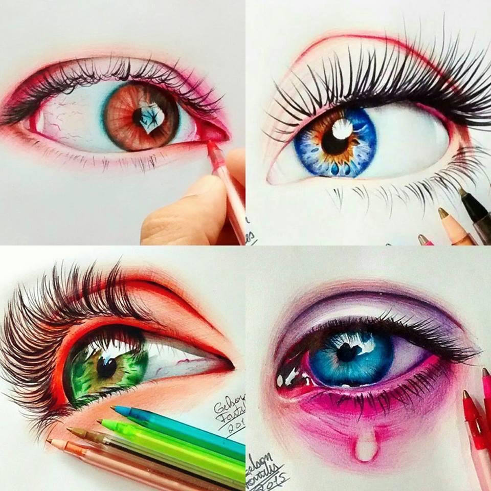 Cearense é considerado o melhor desenhista de olhos com uso de caneta no mundo