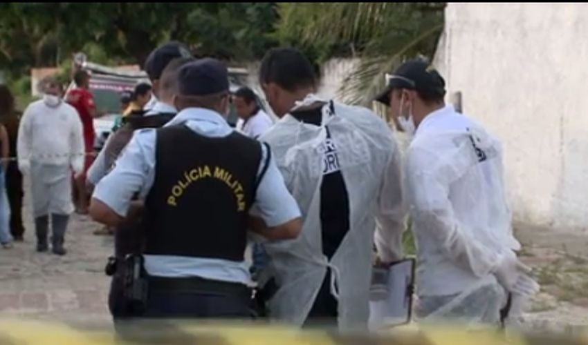 Casal encontrado morto: várias versões para o crime (FOTO: Reprodução TV Jangadeiro)