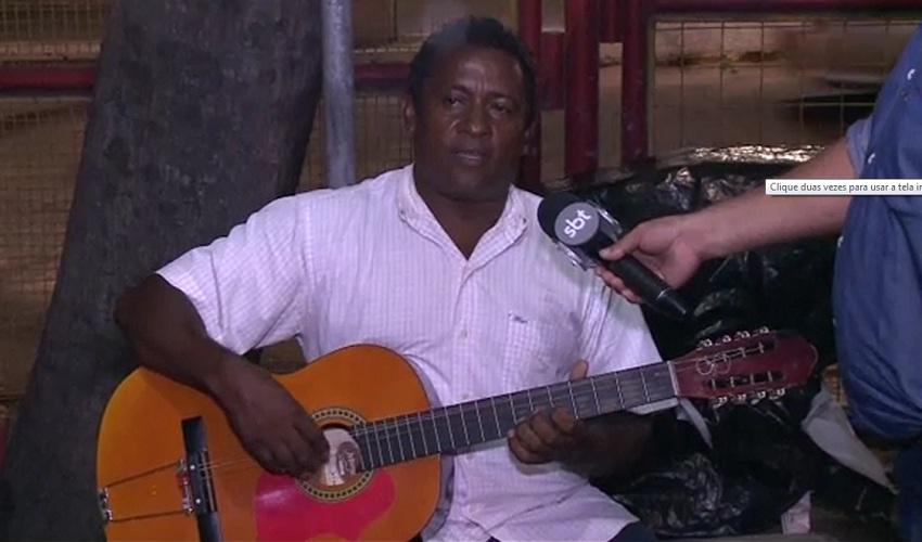 O repentista Jussiê Silva viveu uma situação complicada em sua primeira visita a Fortaleza (FOTO: Reprodução TV Jangadeiro)