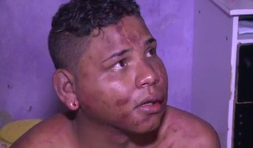 Homem foi confundido com ladrão e é espancado por passageiros do ônibus (FOTO: Reprodução TV Jangadeiro)