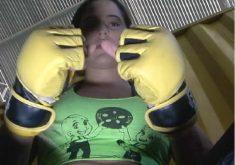 Ela foi bailarina, fisioculturista hoje é lutadora de MMA (FOTO: Reprodução TV Jangadeiro)