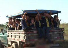 Perigo no transporte escolar de Umirim (FOTO: Reprodução TV Jangadeiro)