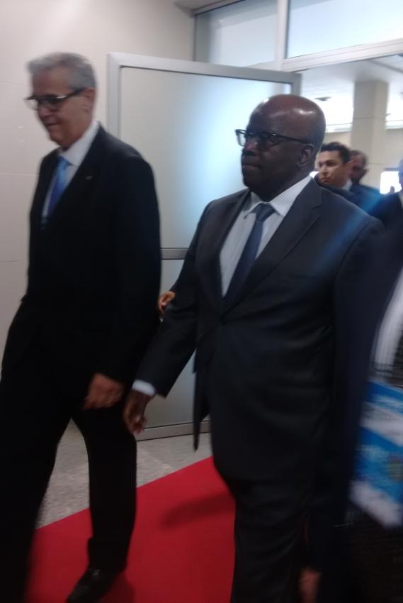 Ex-ministro esteve de passagem por Fortaleza nesta segunda-feira (3) (FOTO: Hayanne Narlla/ Tribuna do Ceará)