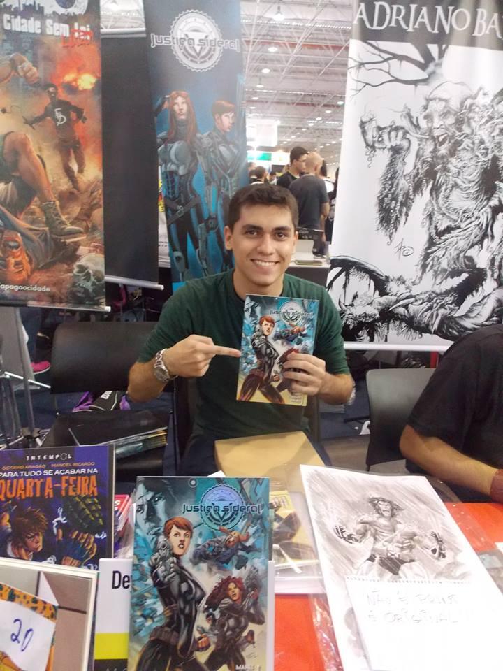 Cearense Netho Diaz faz sucesso nos Estados Unidos ilustrando revistas em quadrinhos. (FOTO: Reprodução/Arquivo Pessoal Netho Diaz)