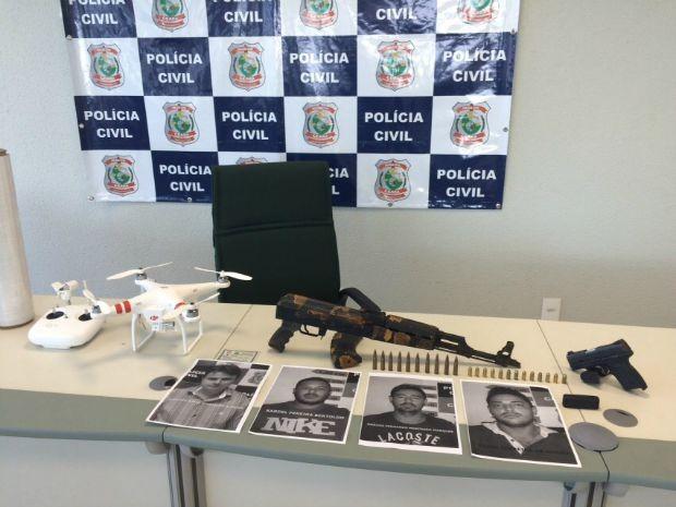 De acordo com o delegado Vilarinho, da DRF, o bando é responsável por oito ações ocorridas entre 2013 e este ano (FOTO: Polícia Civil/Divulgação)