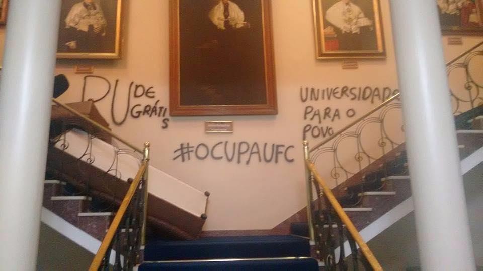 Após reunião de negociação, estudantes, Reitoria e PF não chegaram a um consenso (Foto:Reprodução)