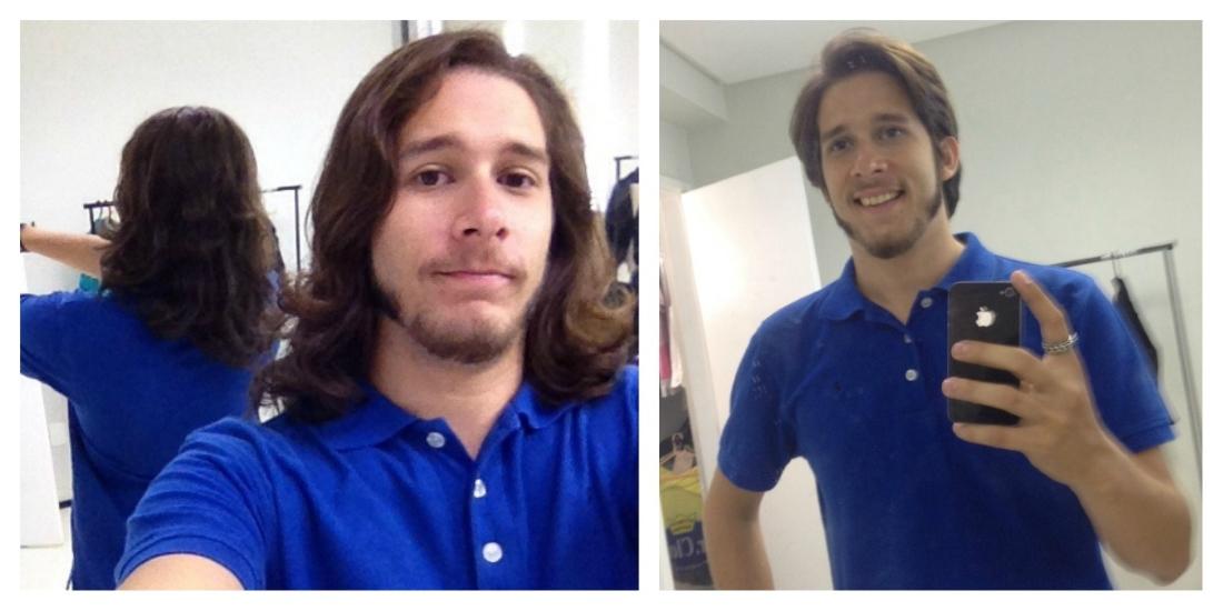 Repórter era conhecido pelo cabelo grande. Agora, tenta se acostumar ao novo visual (FOTO: Arquivo pessoal)