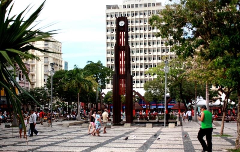 Praça do Ferreira foi uma das mais lembradas na enquete do Tribuna do Ceará (FOTO: Camila Cabral/ Tribuna do Ceará)