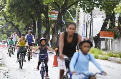 O ponto de apoio do Poço da Draga terá apoio do SAMU, distribuição de mudas de plantas, ponto de cadastramento do Bilhete Único e aluguel de bicicletas. (FOTO: Reprodução/Prefeitura de Fortaleza - Thiago Gaspar)