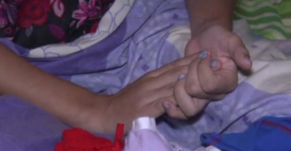 Menina de 13 anos teve trigêmeos (FOTO: Reprodução/TV Jangadeiro)
